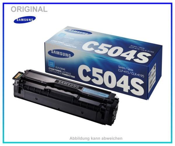CLP415C - CLT-C504S/ELS - Original Toner Cyan fuer Samsung CLP415 - CLX4195 - ca. 1.800 Seiten.