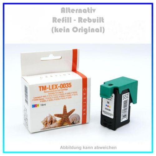 REF0033 Refill Tinte Color f. Lexmark P315 18CX033 18C0035 18C0033 (No.33 - 35) Inhalt ca.18ml