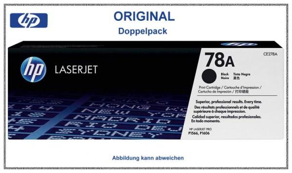 CE278AD - Original HP Toner Black Doppelpack fuer HP Laserjet - CE278AD - Inhalt 2mal 2.100 Seiten