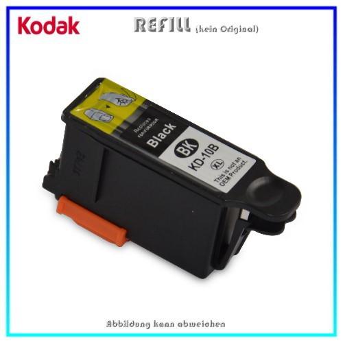 REF10BKXL Refill Tintenpatrone Black für Kodak 10 black - 3949922 - 10BKXL - Inhalt ca. 19ml