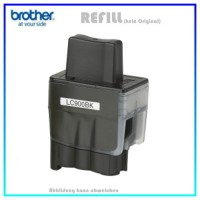 LC900BK (Schachtel) Alternativ Tinte Black für Brother LC900-BK - Inhalt 25,6ml (PATENT SAFE)