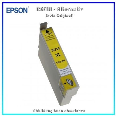 T2714XL Alternativ Tintenpatrone Yellow für Epson - C13T27144010 - Inhalt 15 ml