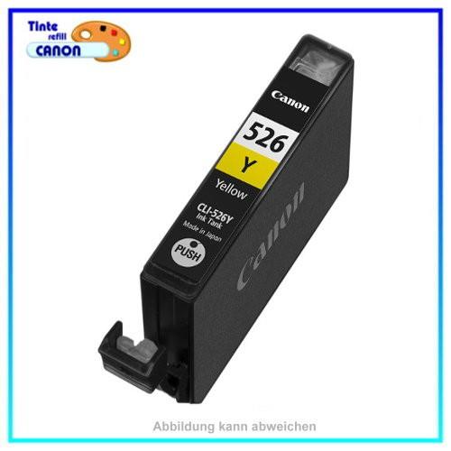 CLI526Y Alternativ Tintenpatrone Yellow mit Chip für Canon 4543B001,IP 4820,MG 6250, 10ml
