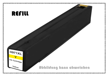 REF971XLY - 971XLY - HP970 - HP971 - Refill Tintenpatrone Yellow für HP - CN628AE - Inhalt ca. 110ml