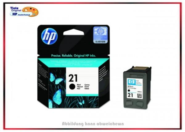 HP-21 Black, C9351AE, Original Tintenpatrone Black für HP - C9351AE - Inhalt 5 ml.