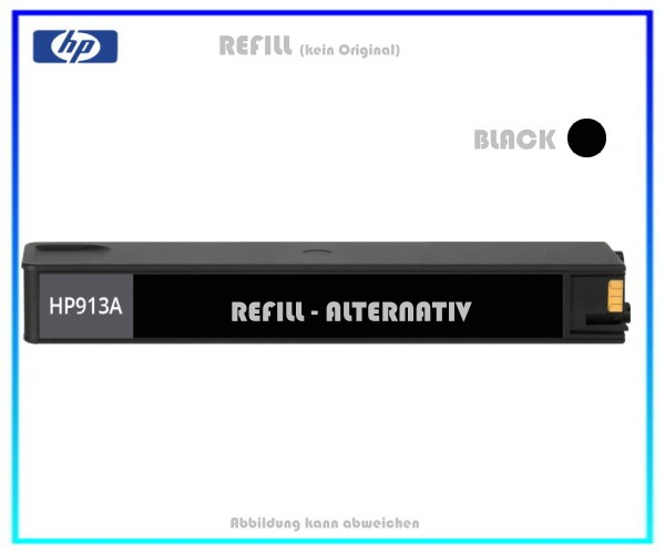 REF913BK Refill Tintenpatrone Black für HP L0R95AE - 913BK - HP913 - Inhalt ca. 80ml
