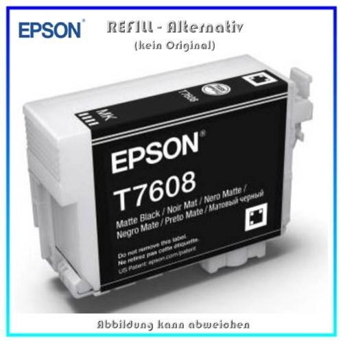 BULK T7608 Alternativ Tintenpatrone Matte Black für Epson - C13T76084010 - Inhalt 32ml