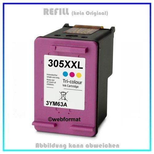 REF305XXLC - HP Refill Patrone Color 3YM63A, HP 305XXLC, Inhalt 450 Seiten (125% mehr Inhalt)