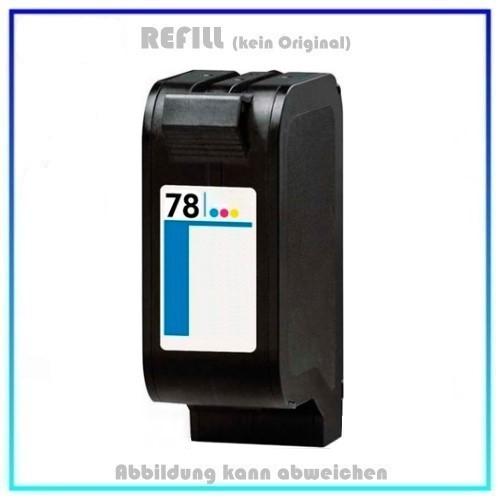 BULK78A, C6578A, Alternative Tintenpatrone Color für HP, C6578A, DJ 720C, 850C, 890C, Inhalt 39 ml.