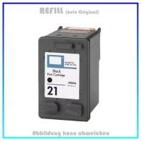 HP-21 klein, REF21 klein, C9351AE Refill Tintenpatrone Black für HP - Inhalt  9ml