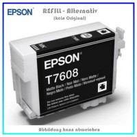BULK T7608 Alternativ Tintenpatrone Matte Black für Epson - C13T76084010 - Inhalt 32ml