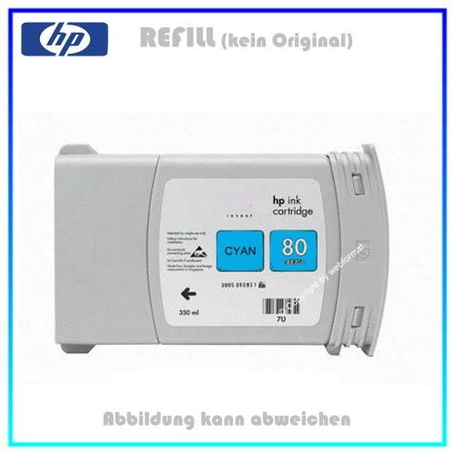 C4846A Refilltintenpatrone Cyan - Nr.80 - C4846A passend für HP DNJ1050 - Designjet 1050C, 350ml