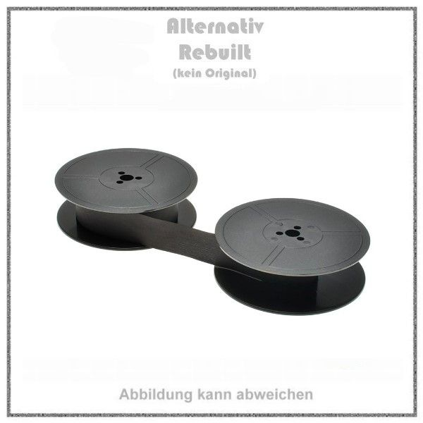 Gr. 1 - Farbband - Nylon - schwarz - fuer ABC-Addo-X-Adler-Royal-Alpina-Anita-Allen RC-Allied Comp-A