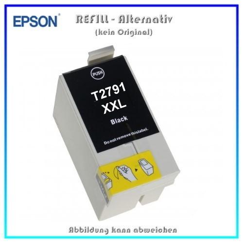 T2791XXL Alternativ Tintenpatrone Black für Epson - C13T27914010 - Inhalt 45 ml