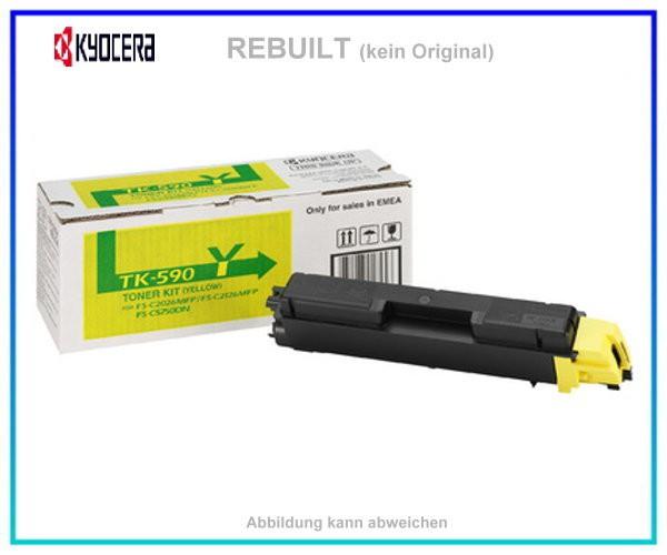 TONTK590Y Toner Yellow mit Chip fuer Kyocera-Mita FS-C 2026 MFP - FS-C 2126 MFP - FS-C 2526 - 5000 S