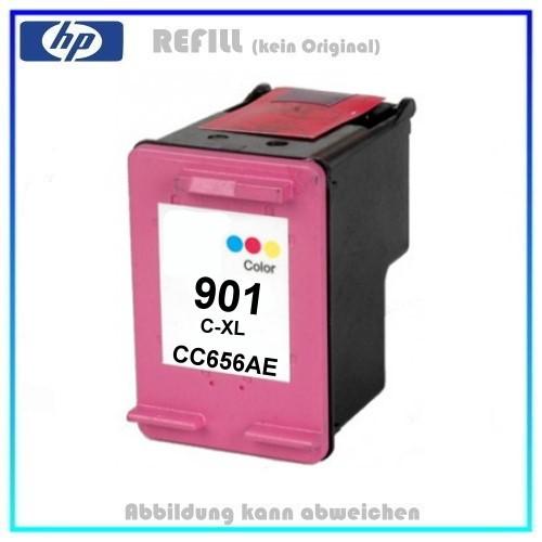 REF901CXL Refilltintenpatrone Nr. 901 Color HP - CC656AE - Inhalt ca. 18ml - (kein Original).