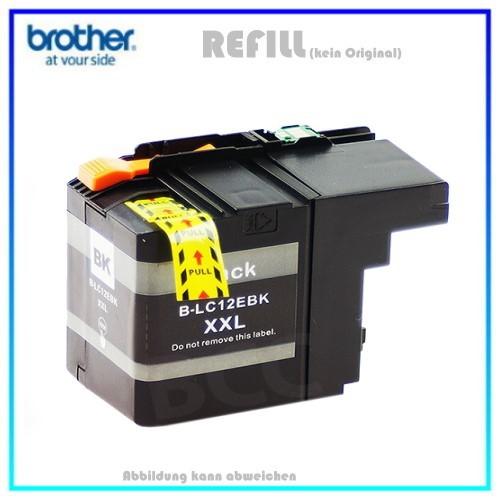 BULK LC12XXLBK Alternativ Tintenpatrone Black Brother - LC12EBK - MFC-J 6925 DW - Inhalt 2400 Seiten