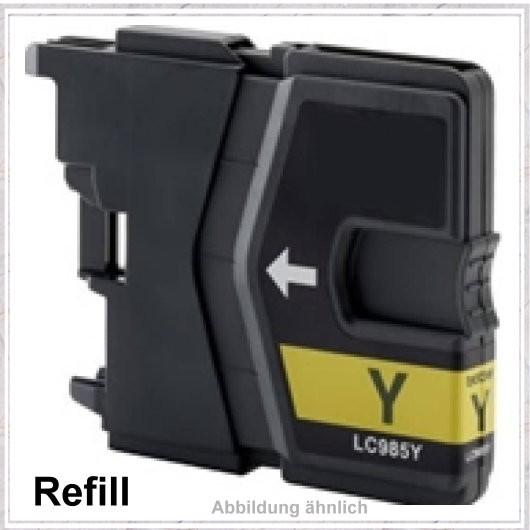 LC985Y Alternativ Tinte Yellow für Brother - LC985Y, Inhalt 20ml, kompatible Tintenpatrone.