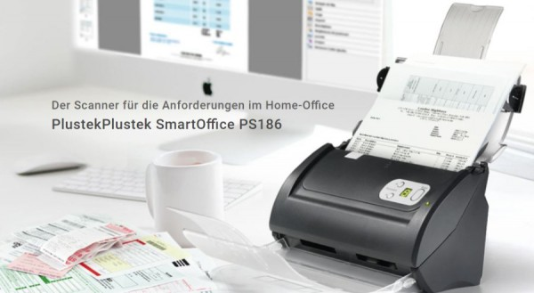 Plustek SmartOffice PS186 - der kompakte SmartOffice PS186 - 600 X 600 DPI 50IPM INk,Homeoffice,Büro
