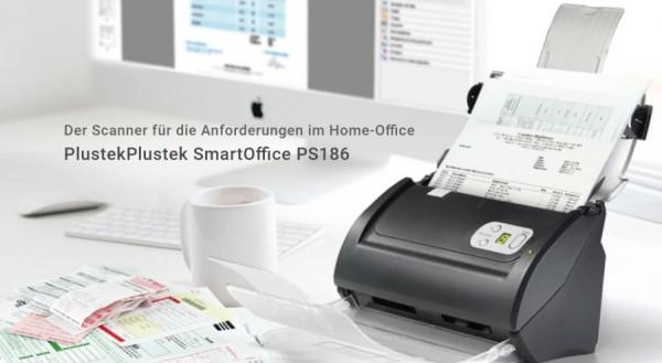 Plustek SmartOffice PS186 - der kompakte SmartOffice PS186 - 600 X 600 DPI 50IPM INk,Homeoffice,Büro