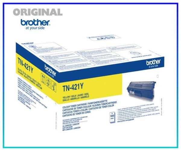 TN-421Y - Original Toner Yellow (Gelb) für 1.800 Seiten