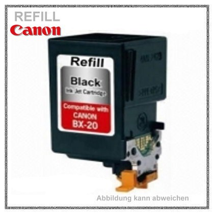 REFBX20 befüllte Tintenpatrone f. Canon Fax B 210c/230c/Multipass30/50/70/75/EB10