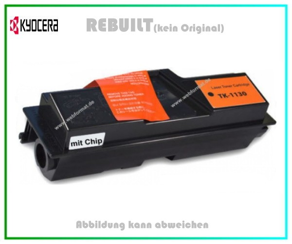 TK1130 - mit Chip Tonerkartusche Black - TK-1130 - Kyocera FS 1030 MFP - FS 1130 MFP, 3.000 Seiten