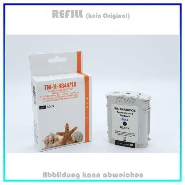 REFC4844 Refill Tintenpatrone Black, HP-10, für HP C4844A, Inhalt 69ml, kein Original.