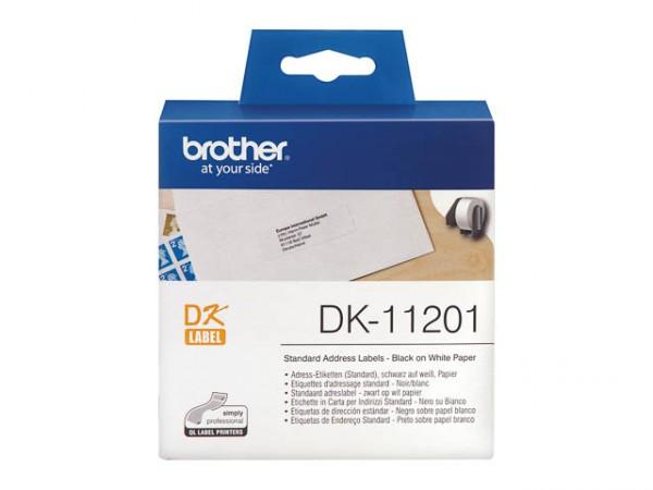 DK11201 BROTHER PT QL550 ETIKETTEN WEISS 400STK/ROLLE 29X90MM ORIGINAL
