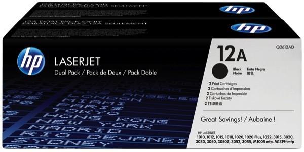 Q2612A - (12A) - Lasertoner Original Black f. HP LaserJet - 1010 - 1012 - 1015 - 1018 - 1020 - 1022