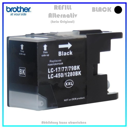 LC1280XXLBK Brother Alternativ Tintenpatrone Black - LC1280XXLBK - Inhalt ca. 55ml