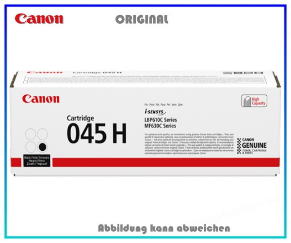 CANON CRG 045 HBK original schwarz Toner hohe Kapazität 2.800 Seiten fuer 1246C002, 045H.