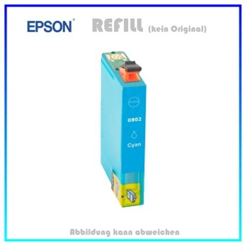 T0802 Epson Alternativ Tintenpatrone Cyan - C13T08024010 - Inhalt ca. 15ml